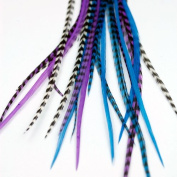 Real Feather Hair Extensions - Moonlight