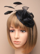Allsorts® Large Black Hat Aliceband Fascinator Weddings Ladies Day Race Royal Ascot
