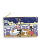 "Filosofille Make-Up Pouch with Lining with ""New Year's Eve Dinner on the Seine"" Theme"