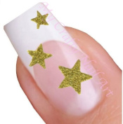 Gold Glitter Star Adhesive Nail Stickers Art