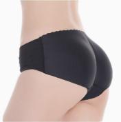 EOZY Women Ladies Black Knickers Enhancer Butt Bum Hip Padded Seamless Shaper Panties Underpants Underwear Size M