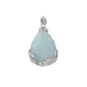 Exquisite Aqua Blue Opalite Opal Gemstone Teardrop Bead Jewellery Pendant New