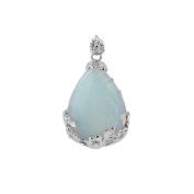 Exquisite Aqua Blue Opalite Opal Gemstone Teardrop Bead Jewellery Pendant New