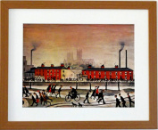"L S Lowry Speciality Print / Picture ""Lincoln"" On A Linen Structure Medium"