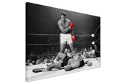 ICONIC MUHAMMAD ALI RED GLOVES BLACK AND WHITEL ARGE CANVAS PRINTS WALL ART LANDSCAPE NEW AGE ART - PHOTO PRINT PICTURE ROOM DECORATION SPORTS LEGENDS