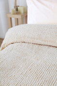 The Bettersleep Company 100% Cotton Candlewick Bedspread Luxury Traditional Bed Throw White