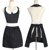 Hot New . Fashion Models Beautiful Home Black Aprons for Women Girls Cake Vintage Apron Chic