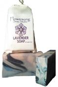 Lavender Handmade Soap 150ml - Flowersong Soap Studio. Simple. Natural. Harmonious Skin Care.
