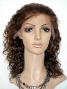 Sina Beauty Beuatiful curly wigs 41cm lace front wig Peruvian virgin hair products #4 with baby hair blenched knots glueless front lace wigs