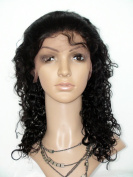 Sina Beauty Lace Front Wig 50cm Curly Hair Wigs #1B Unprocessed Virgin Glueless Front Lace Wig Peruvian Lace Human Hair Wigs For Black Women