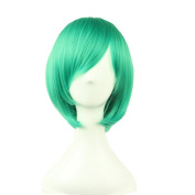 "Crazy Cart (TM) Medium Long Straight Flapper Bob Heat Friendly Cosplay Party Costume Hair Wig 12"" 30cm"