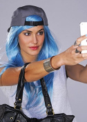 Kylie Jenner Style Long Blue Wig