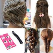 LKE 1pcs Women Fashion Hair Styling Clip Hair Braider Twist Styling Braid Tool Magic Wonder Holder Clip DIY French