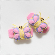 Best of Chums Baby Hair Accessories - Butterfly Plush Felt Hair Clip