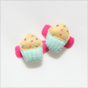 Best of Chums Baby Hair Accessories - Cupcake Plush Felt Hair Clip
