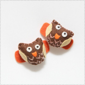 Best of Chums Baby Hair Accessories - Night Owl Plush Felt Hair Clip
