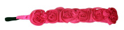 Banded No Slip Headband, Pretty in Pink Enchantment, Floral, 3.8cm wide
