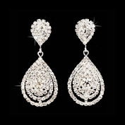 Genevieve - Beautiful Earring set, Bridal Wedding Jewellery, Dazzle ~ Crystal ~ Dangle ~ Fashionable 3D Earrings, Silver