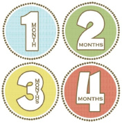 Rocket Bug Monthly Growth Stickers, Seaside Baby