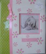 Pearhead L'il Peach Baby Record Book Pink Girl Flowers Scrapbook Photo Album