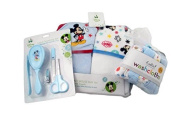 Baby Boy Mickey Mouse Bath Gift Set with Towels, Washloths and Grooming Kit