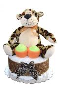 Nappy Cake/ Safari / Lion, Leopard, Tiger Mini Nappy Cake