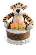 Nappy Cake/ Safari / Lion, Leopard, Tiger Mini Nappy Cake