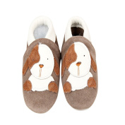 Baby Moccasins with Puppy Design for Boy Girl Infant Toddler Pre Walker Crib Shoe (0-6 month