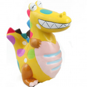 E.a@market Creative Cute Dinosaur Ceramics Coin Bank Children's Piggy Bank Yellow