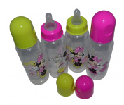 Disney Mickey Mouse, Minnie Mouse 270ml Baby Bottles(4 Pack)