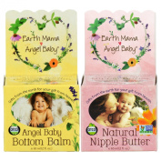 Earth Mama Natural Nipple Butter, 60ml Jar PLUS Angel Baby Bottom Balm, 60ml Jar