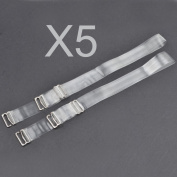 KLOUD City®5 pair Replacement Removable Adjustable Invisible Clear Bra Straps