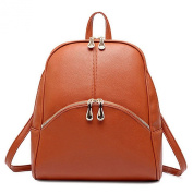 Sugawin Women Pu Soft Leather Small Backpack Shoulder Bag Lovely Schoolbag Tote - Brown