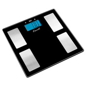 Escali Scales Digital Body Fat, Water and Muscle Mass Scale Black with Silver USHM180S