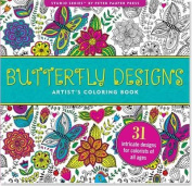 Butterfly Designs Adult Colouring Book (31 stress-relieving designs)