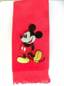 Classic Mickey Mouse bath hand towel vintage red fingertip applique