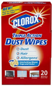 Clorox The 31313 Clorox Triple Action Dust Wipes 20ct - Quantity 1