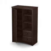 South Shore Angel Armoire with Drawers, Espresso