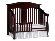 Babi Italia Mayfair Island Crib Guard Rail, Blackberry