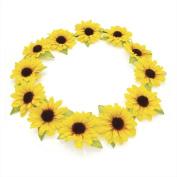 Allsorts® Yellow Daisy Floral Boho Garland Headband for Festivals & Weddings
