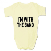 Bang Tidy Clothing Funny Baby Grow I'M With The Band Babies Clothing Cool Fun Gift