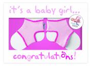 Sock Ons Congratulations Girl Gift Card