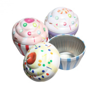 west5products 3x Single Cupcake Protective Tin Box Pods Cases