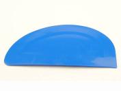 Blue Plastic Flexible Bowl Scraper, Pizza Dough, Meat, Pastry, Cake Making. UK made