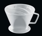 Cilio Premium Vienna Akantus Four Cup Coffee Filter Holder in White Porcelain