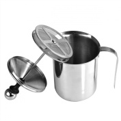 New Stainless Steel Double Mesh Milk Creamer Frother Jug 800ml