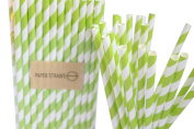 Pack of 25 Apple Green Drinking Retro Paper Straws for Birthday Party Wedding Decoration