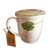"""""""Lotus"""" Teacup Herbs with Gold Plating"""
