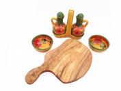 Olive Wood and Spanish Ceramic Dipping Collection