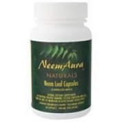 NeemAura Naturals Herbal Neem Leaf Vegicaps Certified Organically Grown 400 mg 60 capsules